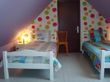 chambre multicolore